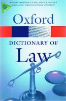 Oxford Dictionary Of Law (Seventh Edition)