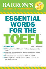 Essential Words for The Toefl (6th edition) + CD