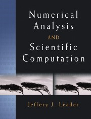Numerical Analysis and Scientific Computation